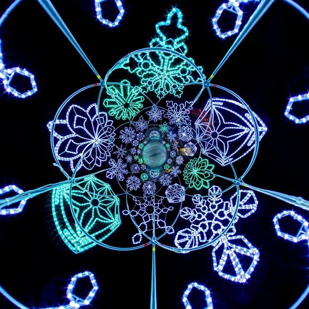 「清水港 海と光の空間」 清水港・エスパルスドリームプラザのイルミネーション Little Planet(2)-1