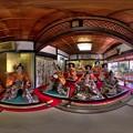 藤枝市岡部町 大旅籠柏屋 等身大ひな人形 360度パノラマ写真 HDR