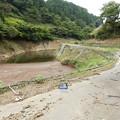 宮ヶ瀬湖 湖面に続く道路