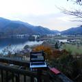 宮ヶ瀬湖を一望できる展望台