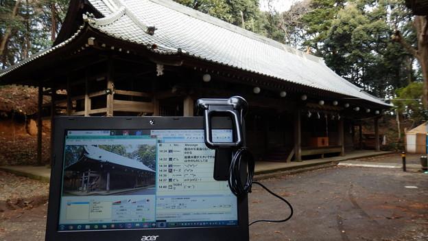 八菅神社でも記念写真w
