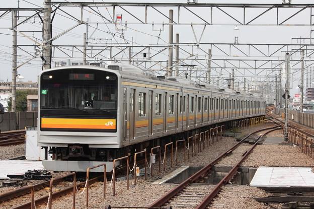 南武線 205系1200番台ナハ46編成 各駅停車川崎行