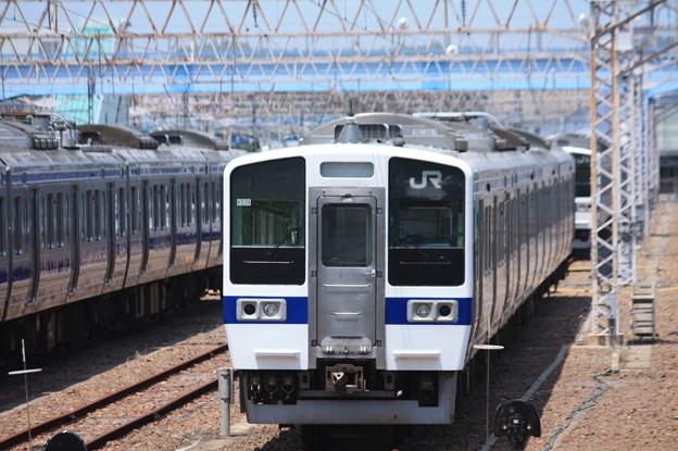 Photos: 高萩駅留置されている415系1500番台 (1)