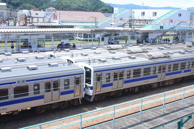 Photos: 高萩駅留置されている415系1500番台 (9)