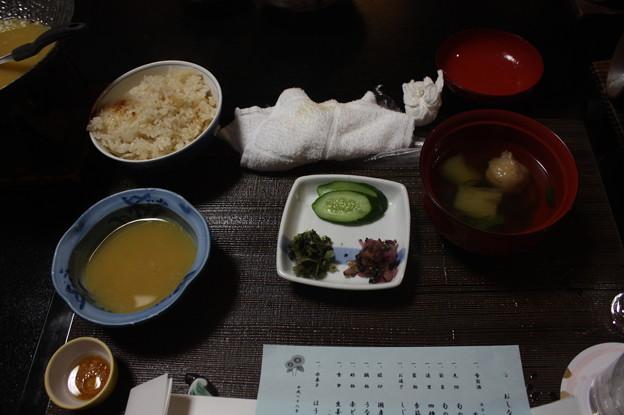 玉造温泉の宿の夕食