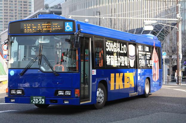 大阪シティバス なにわ200か2059 IKEA塗装
