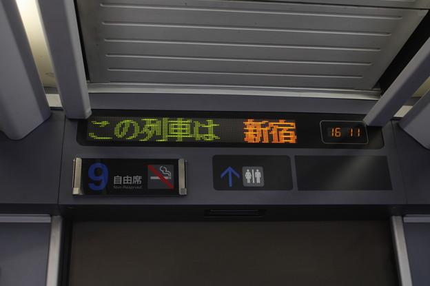 E257系500番台 車内案内表示