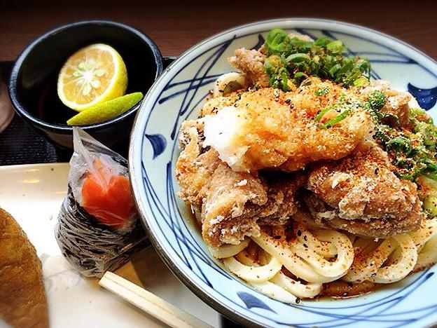鶏唐かぼすぶっかけ@丸亀製麺 中津店