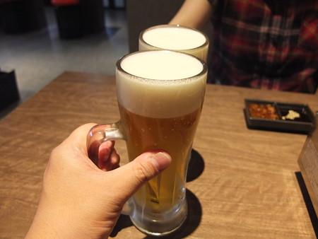 焼肉モランボン 市役所前店 生ビール アサヒスーパードライ¥486*2