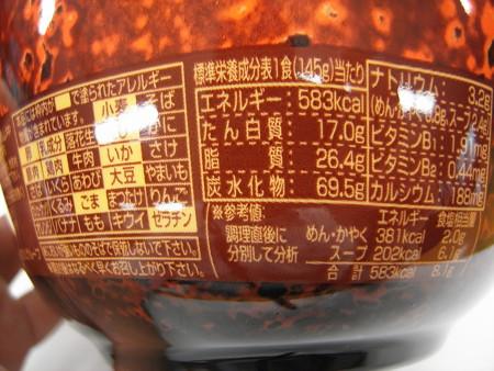 セブンゴールド 日清 名店仕込み すみれ 札幌濃厚味噌 栄養成分等