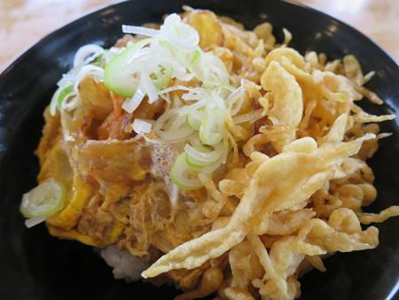 越善 本店 天玉丼(20食限定、ネギ・天かすトッピング) アップ