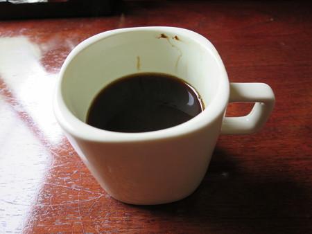 お食事処神明坂 ミックス膳(えび・ホタテ・とんかつ) コーヒー