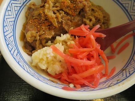 吉野家 上越高田店 牛丼 並 紅生姜