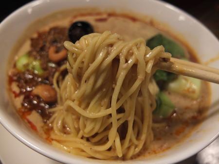 龍馬軒 担担麺 麺アップ