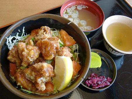 七福の湯 上越店 鶏唐サラダ丼