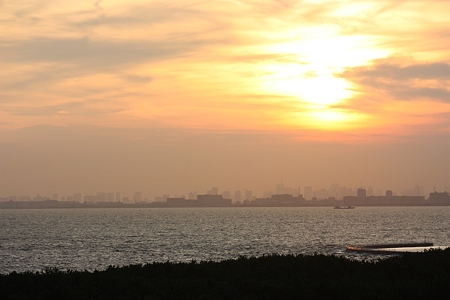 2010/08/29(SUN) 東京湾に沈む夕日(千葉市美浜区)