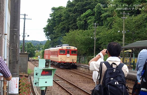 撮り鉄を撮る。(いすみ鉄道 イタリアンランチクルーズ2014)