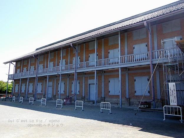 西繭倉庫。(富岡製糸場 世界遺産)