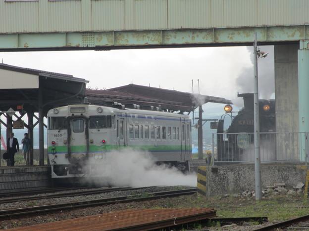 SL函館大沼号 森駅到着2
