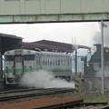 写真: SL函館大沼号 森駅到着2