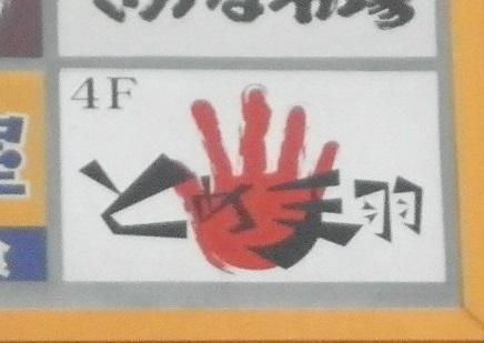 右手をご覧ください