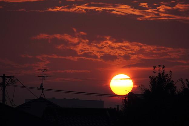 Photos: まんまる夕日