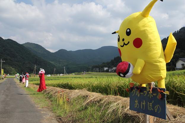 津奈木町かかし祭り・・ピカチューGO
