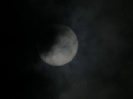 雲間から金星と太陽(群馬県太田市)