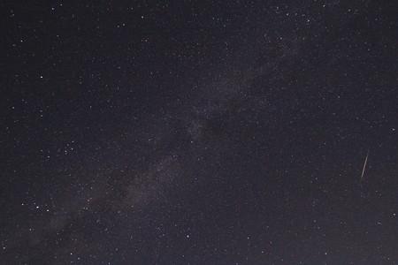 天の川とペルセウス座流星群