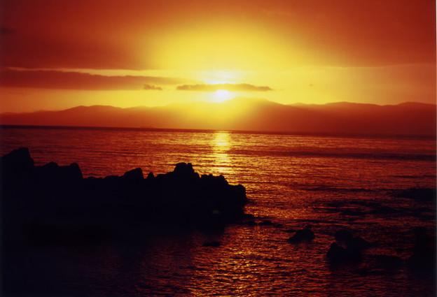 写真: 津軽半島・黎明