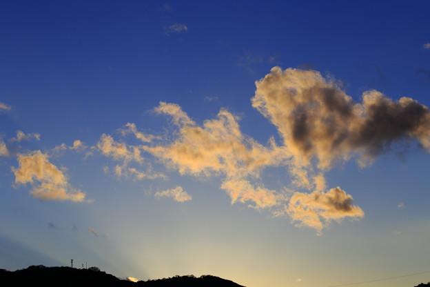 寒気の夕空