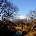忍野八海から見える富士山