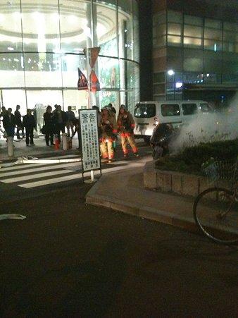 蒲田駅近くでバイク炎上