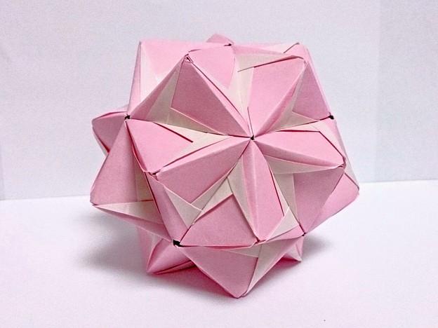 すべての折り紙 折り紙 くす玉 ユニット : ... 最近買った本のユニット折り紙