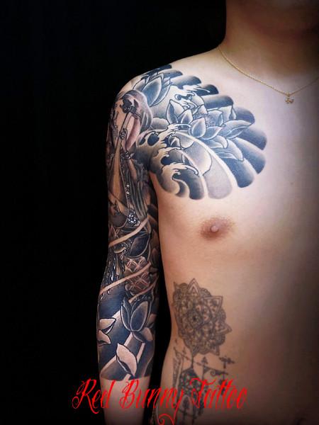 弁財天 弁天 刺青 和彫りのデザイン・画像を紹介 東京 吉祥寺 Redbunnytattoo
