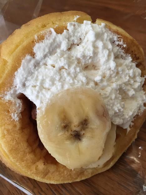 バナナとクリームのワッフル・アップ