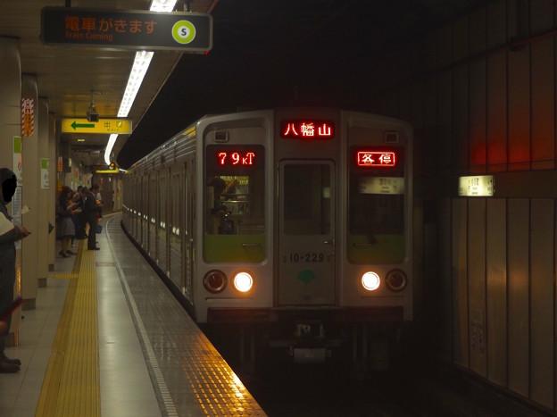 都営新宿線小川町駅3番線 都営10-220F各停八幡山行き進入