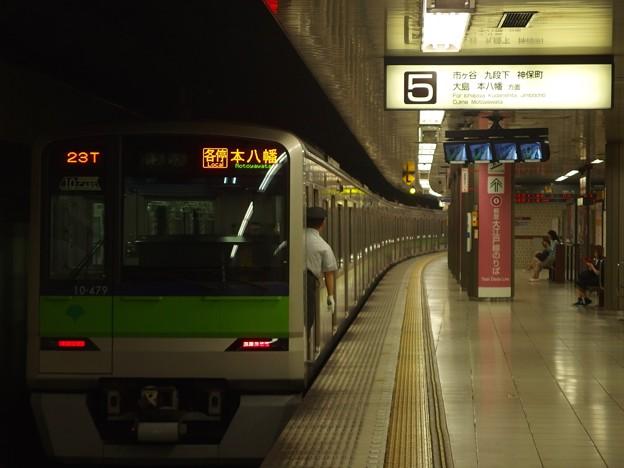Photos: 京王新線新宿駅5番線 都営10-470F各停本八幡行き前方確認