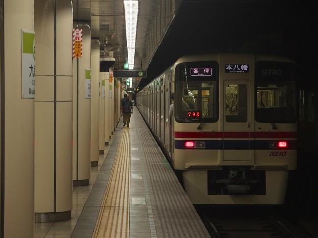 都営新宿線九段下駅6番線 京王9030各停本八幡行き前方確認