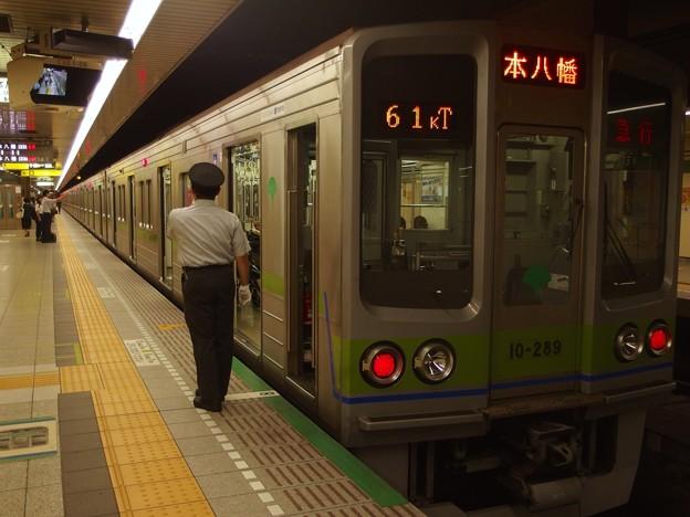 都営新宿線馬喰横山駅2番線 都営10-280F急行本八幡行き笛扱い