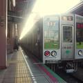 都営新宿線船堀駅1番線 都営10-230F急行笹塚行き停止位置よし
