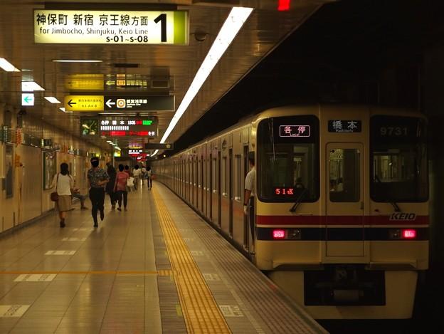 都営新宿線馬喰横山駅1番線 京王9031各停橋本行き前方確認