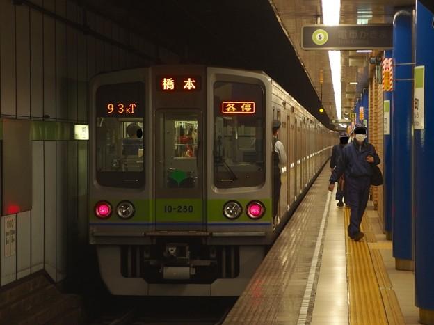 都営新宿線岩本町駅1番線 都営10-280F各停橋本行き前方確認