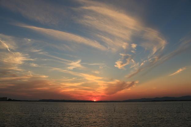 浜名湖の夕景