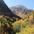 横尾谷から望む北穂高岳
