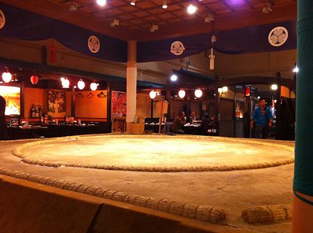 土俵 in the 居酒屋
