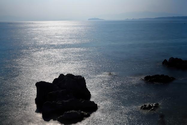 森戸海岸と江ノ島