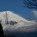 写真: 月と富士 (3)