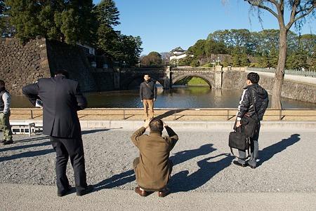 二重橋にて記念撮影