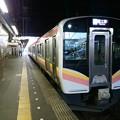写真: 長岡。直江津行きに乗り換え...